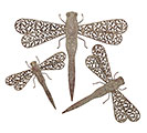 RUSTIC METAL DRAGONFLY WALL HANGING SET