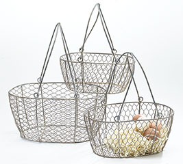 CHICKEN WIRE BASKET SET