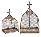 RUSTIC ORNAMENTAL CHICKEN WIRE CLOCHE