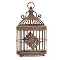 RUSTIC BROWN BIRDCAGE