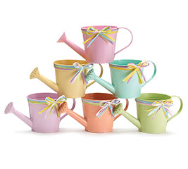 SPRING COLORS TIN WATERING CAN SET