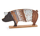 RUSTIC WOOD SLAT PIG SHELF SITTER