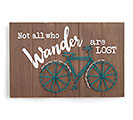 NOT ALL WHO WANDER BICYCLE WALL HANGING