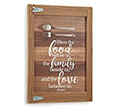 BLESS THE FOOD WOOD WALL HANGING