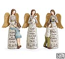 ANGEL AND CHILD ASSORTED FIGURINE SET