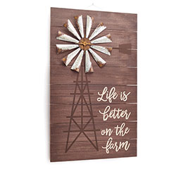 LIFE IS BETTER WINDMILL WALL HANGING