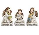 KNEELING ANGEL WITH CHILD FIGURINE SET
