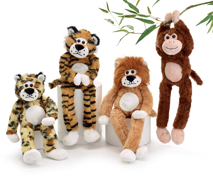 PLUSH JUNGLE ANIMAL VASE HUGGER SET