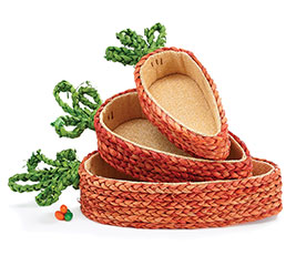 BASKET CARROT SHAPE NESTED SET/3