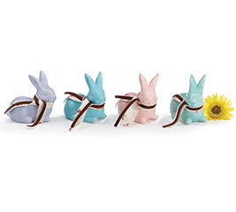 SOLID SPRING COLORS CERAMIC SM BUNNY SET