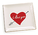 I LOVE YOU HEART SQUARE PLATE