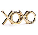 "GOLD METALIC CERAMIC ""XOXO"" DECOR"