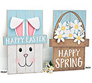 REVERSIBLE EASTER/SPRING WOOD SIGN