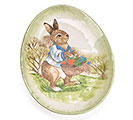COUNTRY RABBIT CERAMIC PLATE
