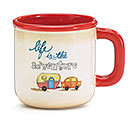 LIFE IS THE ADVENTURE CERAMIC MUG
