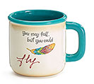 YOU MAY FALL/YOU COULD FLY CERAMIC MUG