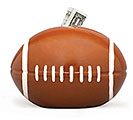 CERAMIC FOOTBALL BANK