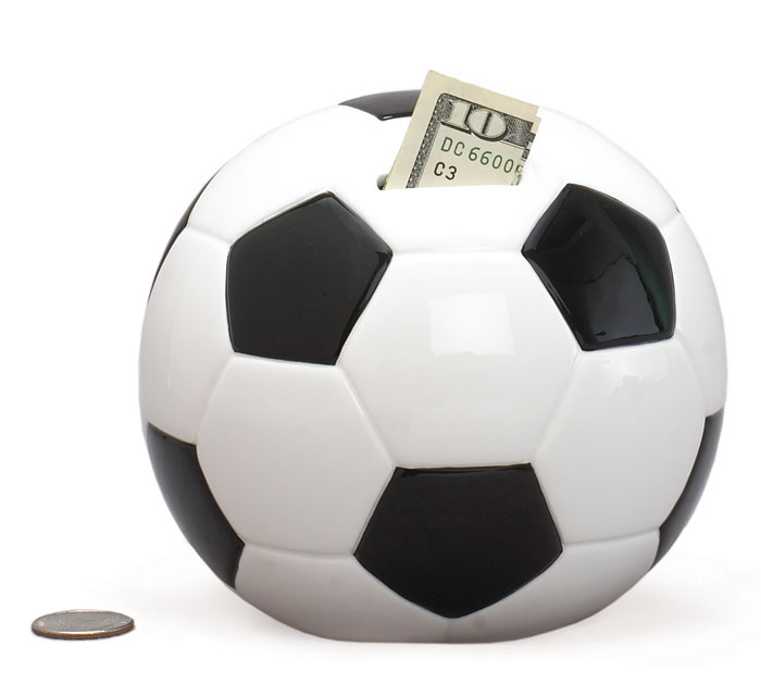 SOCCER BALL CERAMIC BANK