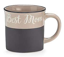 BEST MOM PORCELAIN CHALKBOARD MUG W/BOX