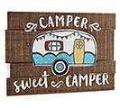 HAPPY CAMPER WOOD SLAT WALL HANGING