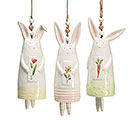 SPRINGTIME BUNNY CERAMIC WIND CHIME SET