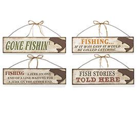 GONE FISHING WALL HANGING SET