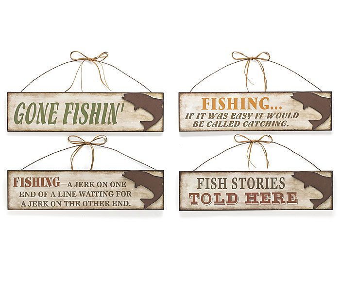 GONE FISHING WALL HANGING SET