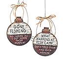 FISHING BOBBERS WALL HANGING SET