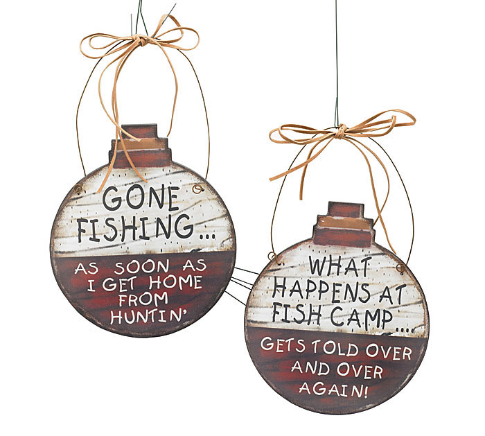 FISHING BOBBERS WALL HANGING SET
