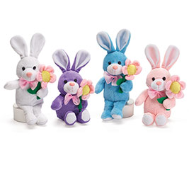Wholesale bunny plush plush stuffed bunnies gifts plush little bunny vase hugger set negle Images