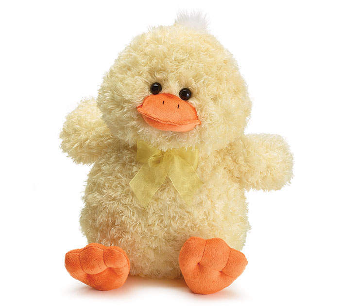 "Spring Seasonal 3/"" Yellow Fluffy Decorative Duck Orange Bill And Feet Easter"
