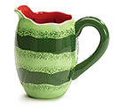 MELON PATCH CERAMIC WATERMELON PITCHER