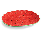 MELON PATCH CERAMIC WATERMELON PLATE