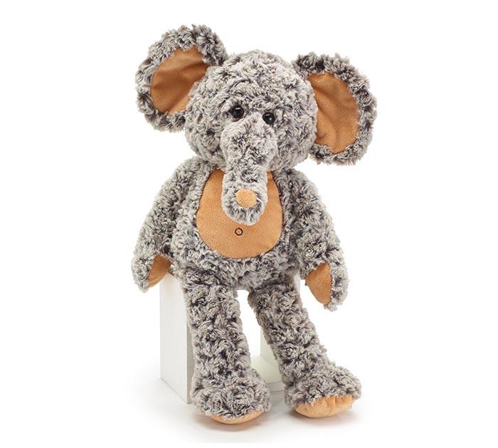 "PLUSH 18"" CUDDLE ELEPHANT WITH CURLY FUR"