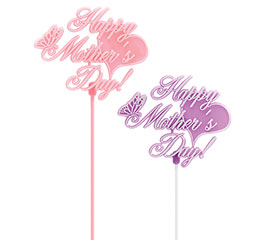 PLASTIC HAPPY MOTHER'S DAY PICK SET