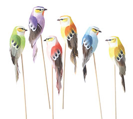 6 PIECE FOAM BIRD PICK SET