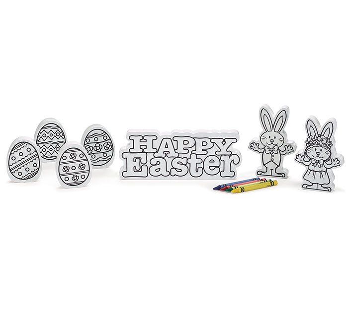 COLOR YOUR OWN WOOD EASTER SET
