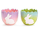 OMBRE CRACKED EGG CERAMIC PLANTER SET