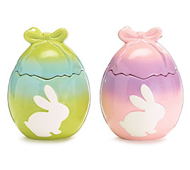 BUNNY WITH OMBRE EGG COOKIE JAR SET