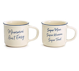 MOMMIN' AIN'T EASY CERAMIC MUG SET
