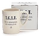 T.G.I.F GRANDMA ACRONYM CERAMIC MUG 1st Alternate Image