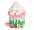 BOTTOMS UP BUNNY CERAMIC COOKIE JAR