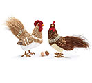 NATURAL SISAL ROOSTER/HEN SET
