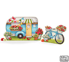 DECOR LARGE CAMPER  BICYCLE