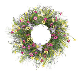 WILDFLOWERS/BUTTERFLIES WREATH