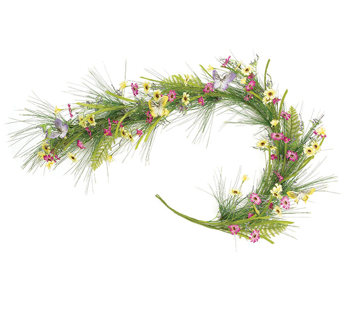 WILDFLOWER/BUTTERFLY GARLAND