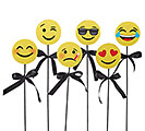 ASSORTED EMOTICON WOOD PICK SET