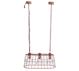 HANGING LIGHT FIXTURE WITH WIRE CASING