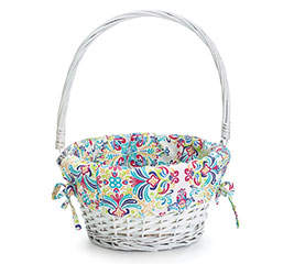 BASKET EASTER WITH FOLDING HANDLE