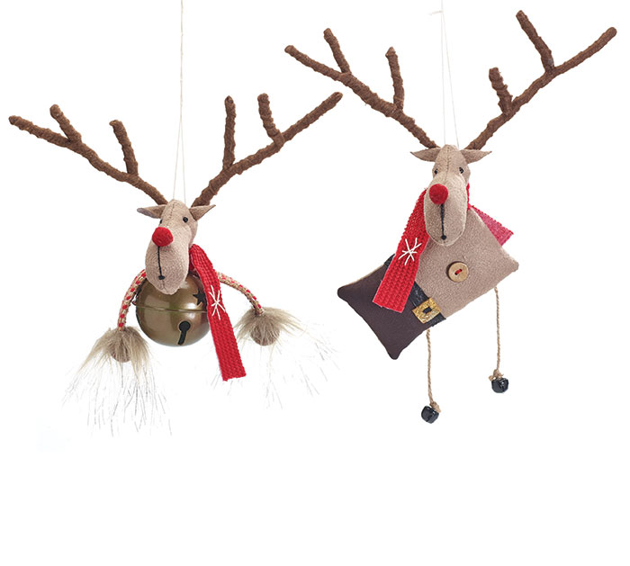 ORNAMENT ASTD REINDEER